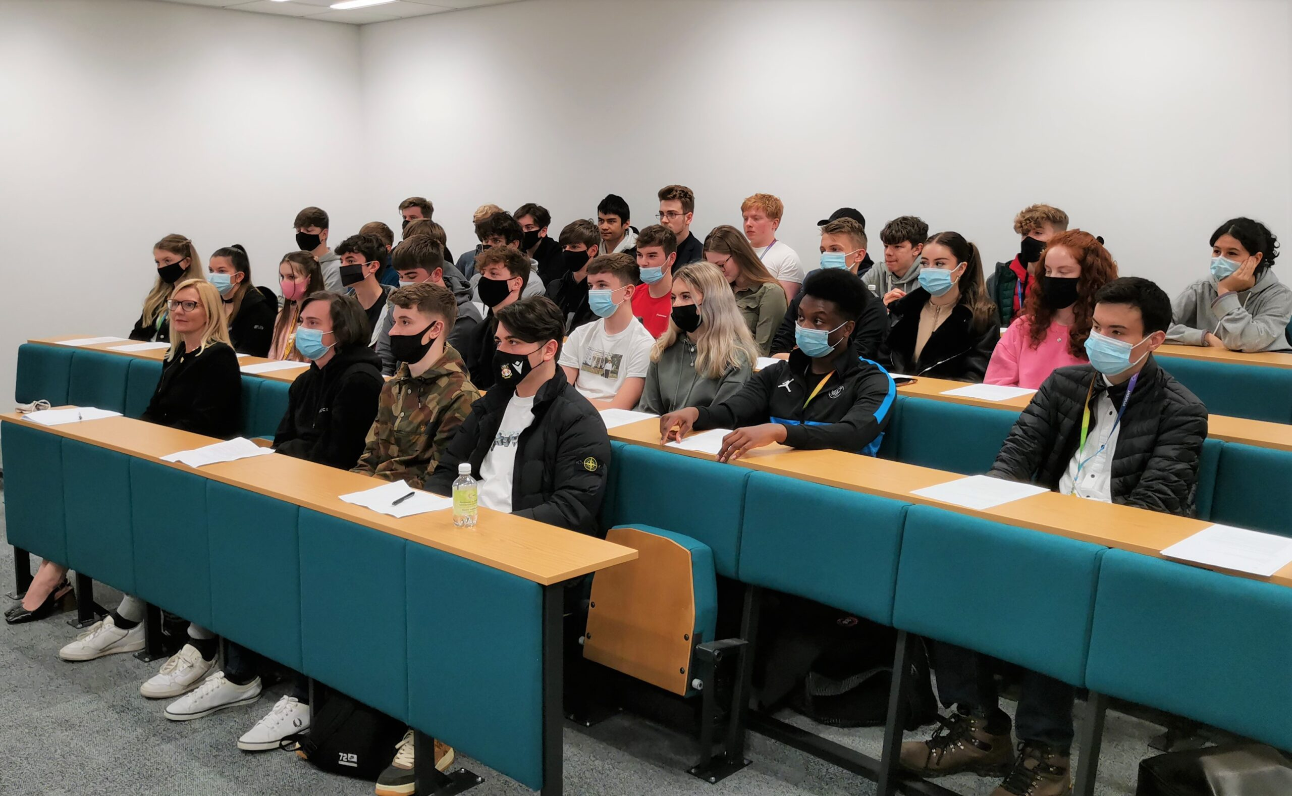 Bank of England Governor deposits advice to Welsh business students